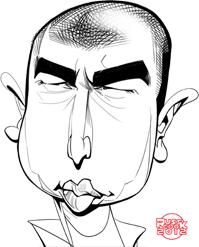Karikatur von Russ Cook.